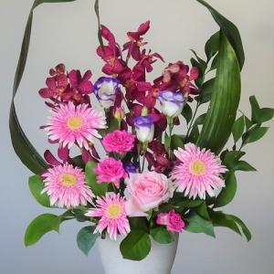 ○ハランとピンクの花々のリメイク