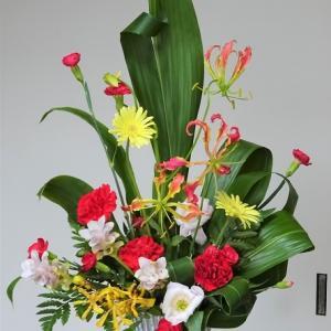 ○銀色花器でのリメイク
