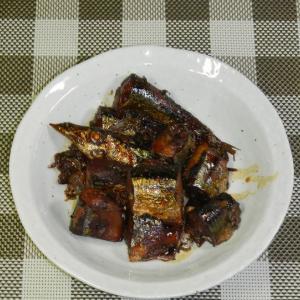 秋刀魚の圧力鍋煮(甘露煮風)