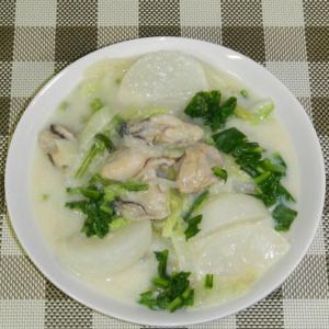 蕪と白菜の牡蠣のクリーム煮