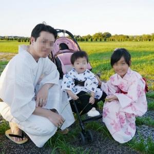 家族で着物7 夏祭り