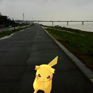 【ポケモンgo】やはり都会の海沿い強し!ピカチュウ出現!ゲットだぜ!