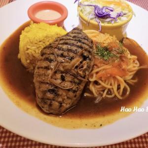 ・南京復興・【鶴田屋-洋食廚廚】lovebeefcutletさんと思い出のハンバーグ【お食事編】