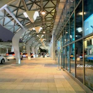 ・お散歩・【台北松山空港】ちょっぴり寂しく+幻想的な夜の空港へ行きました(1月下旬のこと)♪