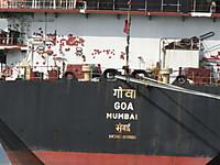 貨物船 GOA・・MUNBAI  from Indea