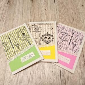 お薬手帳カバー(ケース) パリス柄で3色(*^▽^*)♪