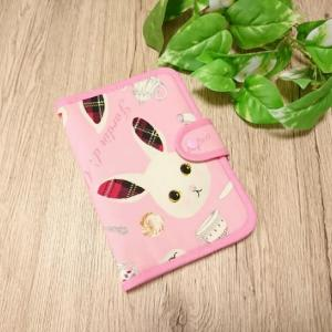 母子手帳・お薬手帳など マルチに使えるケース! ありすのうさぎ柄 ピンクで(*^▽^*)♪