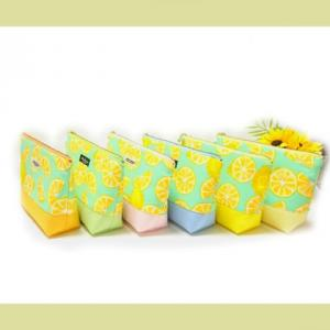 爽やかなレモン柄で 20cmポーチ 6色  & お絵かき~ (*^▽^*)♪