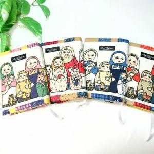 マトリョーシカ柄で ブックカバー 4色!! (*^▽^*)♪