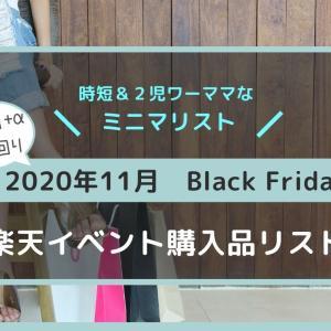 【2020年11月楽天ブラックフライデー】ミニマリストワーママの買い物リスト