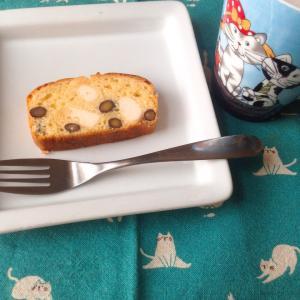 黒豆とクリームチーズのパウンドケーキ