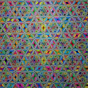 模様画「六芒星繋ぎ」