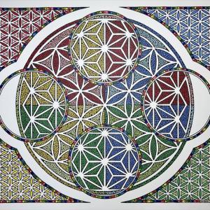 神聖幾何学ヒーリングアート『See-through ASANOHA』