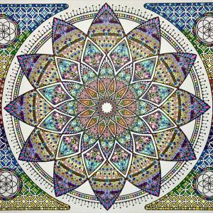 曼荼羅アート「魂の声に導かれて」