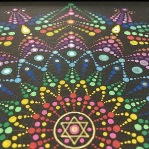 曼荼羅アート「ドットの幾何学〜カラフル1、2」