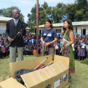 """:)★ラクロス(ポウッポウ)がザンビアにやってきた!~JICA""""世界の笑顔のために""""プログラム~"""