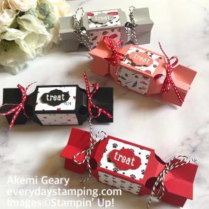 Stampin' Up! 【作り方動画】プチギフトに最適!キャンデー型のボックス