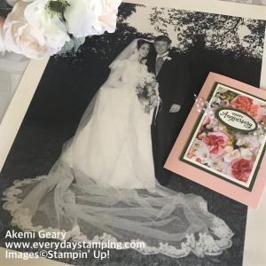 Stampin' Up! バラがいっぱいの結婚記念日のカード