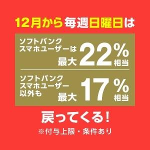 【キャンペーン】Yahoo!ショッピング/PayPayモール 毎週日曜日はソフトバンクユーザ最大22%相当/以外も最大17%相当 戻ってくる!(2021/1/17)
