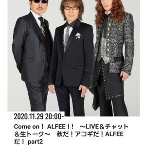 2020/11/29 Come on ALFEEセットリスト