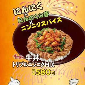 すき家のニンニクMIX牛丼食べた感想どうや?