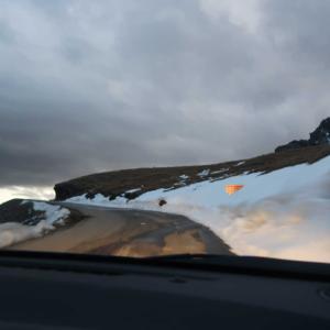 初雪のイズラン峠から帰ってきました