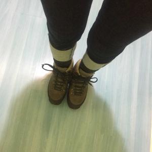 久しぶりに登山靴を履いてみた