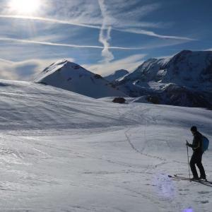 子供たち山スキーデビュー
