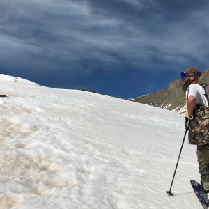 あの人と1泊スキーハイキング・頂上&下山編