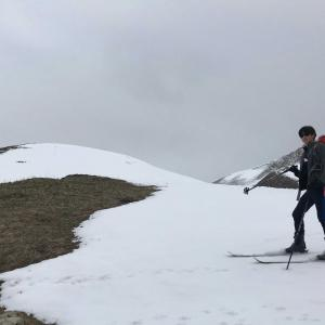 雪降る山小屋に一泊(5月後半)