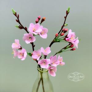 クレイでつくる桜 ( 自宅教室:生徒さんのレッスン作品♪ )