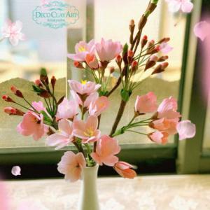 クレイでつくる桜 ( 門司教室:生徒さんのレッスン作品♪ )
