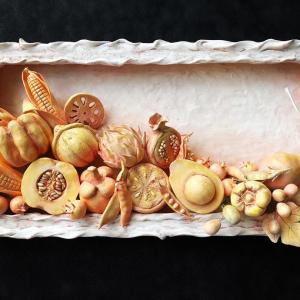 野菜とフルーツのレリーフ ( 自宅教室:生徒さんのレッスン作品♪ )