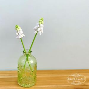 可愛らしい花姿のムスカリ♪ ( 自宅教室:生徒さんのレッスン作品 )クレイフラワー