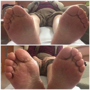 足を見て・整え、靴下を履き靴を履く、ここまでがフットケア。