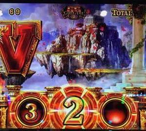 【ミリオンゴッド凱旋】GG中に中段黄7から神の雷発生でV出現!