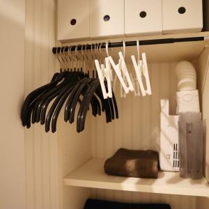 【収納】予備ハンガーの収納が決定。脱衣所収納が出来上がりました。