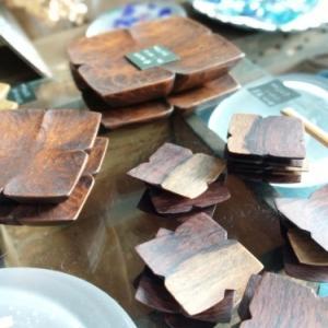木工作家 石引治さんの紫陽花作品。