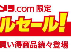 ビックカメラ.com限定「スペシャルセール」朝10時からタイムセール