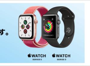 アップルウォッチ「Series3は21760円〜、Series5は5,500円引」ビックカメラ.com