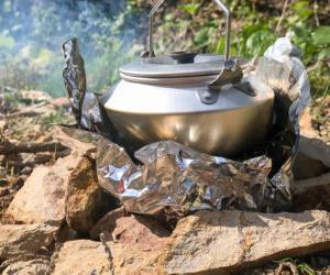 「タイムトライアル山菜狩り」という遊び方と軽量焚火台のご紹介