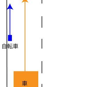 自転車追い越し時の【側方距離】について。