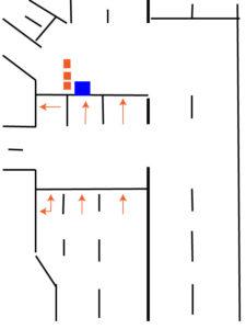 第一京浜、札の辻交差点を直進する場合。