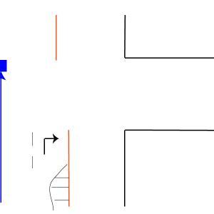 二段階右折専用の信号。
