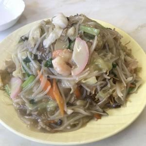 六甲道で具だくさんのちゃんぽんと皿うどん♪ @青鳳