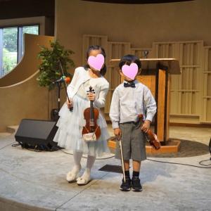 子供達のバイオリン発表会