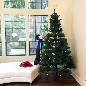 我が家もようやくクリスマスの装いに…♡