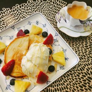 【お家カフェ】フルーツパンケーキ