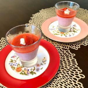 【お家カフェ】苺ミルクゼリー♡