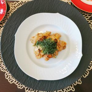 ママが元気な時のディナー④ 鶏もも肉のニンニク胡麻醤油ソテー